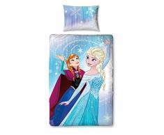 Disney Frozen-Set di luci con pannello letto, in poliestere, cotone, multicolore, singolo