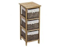Dcasa - Cassettiera in Legno con 3 cassetti, per conservare Decorazioni Natalizie, Articoli per la casa, Unisex, per Adulti, Colore: Unico