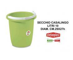 Stefanplast Secchio CASALINGO LT.10 Linea Primavera Verde, 10 lt