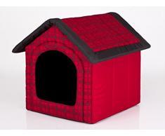 Hobbydog R1 BUDCWK12 Cuccia per Cani, Misura 1, 38 x 32 cm, Durevole Codura, Resistenza ai Graffi, Prodotto Europeo, XS, Rosso, 600 g