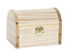 Darice Cassettiera in legno, con chiusura a cerniera, 6,1 cm x 10 cm x 4,3 cm, in altri, multicolore