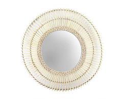 Dcasa Bamboo Specchi da Parete Mobili Adesivi Decorazione della Casa Unisex Adulto, Colore, Unico