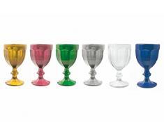 Villa dEste Home Tivoli Chateau Set 6 Bicchieri Vino Multicolore Calici unità