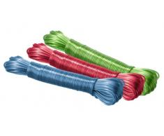 Wenko - Corda stendibiancheria, Colori Assortiti, Plastica, Multicolore, 20 m