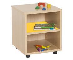 Mobeduc 600109HP17-Mobile/superbajo Mobiletto per bambini, in legno, colore: faggio/giallo/nero, 36 x 40 x 44 cm