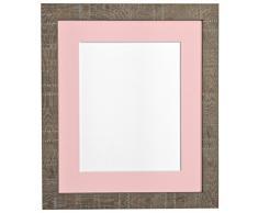 PER POSTA CORNICI 30 x 30 cm di profondità e le istruzioni per la vena rosa photo frame con supporto per 8 x 20,32 centimetri per le foto, marrone