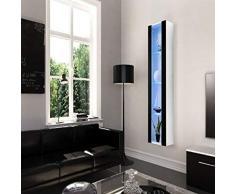 Homemania Theta Design by Armadio, Armadio Tallinn, Corpo: Bianco Opaco, Fronte: Nero Lucido PVC