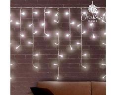Eminza–Luci di Natale LED Effetto Cascata T1Cool White