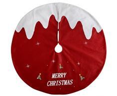 WeRChristmas-Decorazione Gonna Albero Di Natale Pudding, Tessuto, Multicolore, 102cm, grande