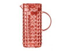 Guzzini Tiffany Caraffa C/Bulbo Infusore 18,5 x 11,5 x H 25,5 cm, Rosso