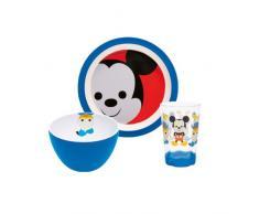 ZAK Designs, MMLW-0391 Disney, Set di Posate e stoviglie per Bambini, Topolino, 3 pz.