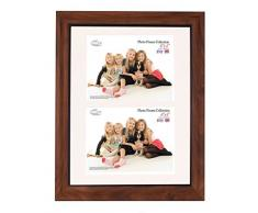Tradizionali foto e cornici britannici Inov8 PFES-tail-DA1, 20 x 30 cm, doppia visiera 2 x 10 x 15 cm, in teak rustico