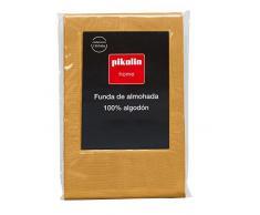 Pikolin Home - Fodera di cuscino, 100% cotone, 40 x 90 cm, colore arancione. Tutte le misure