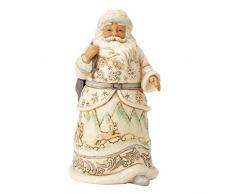 Enesco Decorazione Natalizia Babbo Natale, Resina, Multicolore, 12 x 12 x 14 cm