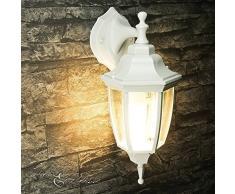 Lampada da parete rustica in alluminio esterno in vetro bianco E27 IP44 Lampada da terrazzino giardino