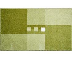 Linea Due Tappetino da Bagno 3D, Ultra Morbido e Assorbente, Antiscivolo, 5 Anni di Garanzia, MERKUR, Tappeto per il Bagno 70x120 cm, Verde