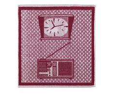 Eiffel Textile Set di Strofinacci Cucina Jacquard Electro, Cotone, Multicolore, 50Â x 50Â x 10Â cm, 3Â Pezzi