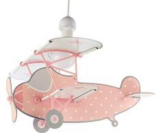 Dalber Stars Plane lampada per bambini, Rosa