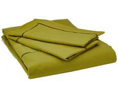 Heckett Lane Biancheria da Letto 100% Cotone Percalle Feline 200 Green Oasis