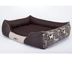 Hobbydog L PRENAP11 Cuccia per Cani, Taglia L, 65 x 50 cm, in Coduro Resistente, Copertura Rimovibile, Prodotto Europeo, L, Marrone, 1,8 kg