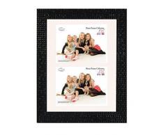 Inov 8 PFES-MONACO-DA1 tradizionali foto e cornici britannici, 20 x 30 cm, doppia visiera 2x 10 x 15 cm, mosaico nero