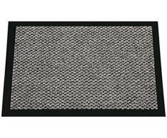 ID MAT 608005 - Zerbino in Fibra, PVC e Polipropilene, 80 x 60 x 0,67 cm, Grigio, 60 x 80 cm