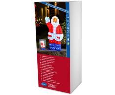 Konstsmide 6122-203 Babbo Natale in acrilico a LED, 200 diodi a luce bianca fredda, trasformatore esterno 24 V, 12 W, cavo trasparente