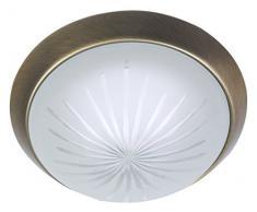 Niermann Standby a + + to e lampada da soffitto, parete anello ottone antico, Satinato, 25 x 25 x 8 cm