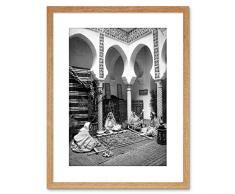Wee Blue Coo - Stampa Fotografica Vintage del Moquette Arab Algeria con Cornice, F97 x 4090