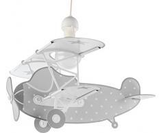 Dalber Aeroplano Lampada da soffitto 60 W, Multicolore, 400 x 500 x 640