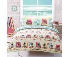 Ashley Wilde AW00035, Set Biancheria da Letto, Motivo: Carlino, 225 x 200 cm, Multicolore (Bunt)