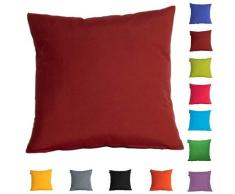 DHestia - Confezione da 2 federe per Cuscini, Decorazione Divano e Letto, 45 x 45 cm, in Tela, Colori (Rosso Tela/Rete Tile), 45 x 45 cm