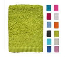 DHestia - Set di Asciugamani da Bagno e Doccia in Cotone 100% 500 gr/m2, Colori e Misure Grandi, Pistacchio, 70 x 140 cm (Confezione da 2)