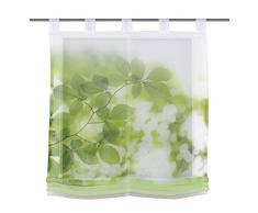 Home Fashion 79912-768 - Tenda a Pacchetto in Voile, con Motivo Stampato, 140 x 100 cm, Colore: Verde