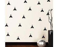 Decorazioni da parete Tribal Pattern rimovibili autoadesive per ufficio, decorazione della casa, vinile, nero