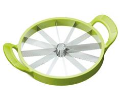 Kitchencraft Mangiare Sano affetta Melone e Anguria affettatrice, Verde, 23.5 cm