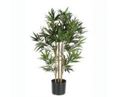 Decorazioni Mica 992252 bambù nel vaso in plastica Pianta Artificiale, Poliestere, verde, 75 x 75 x 150 cm