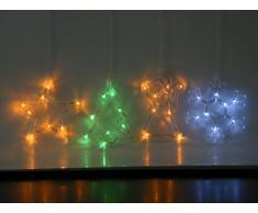 Best Season finestra sihouette Albero di Natale, 8 Oro LED, Plastica, Verde, 1 x 16 x 22 cm