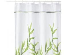 InterDesign Anzu Tenda da Doccia, Tenda per Vasca da Bagno 180,0 cm x 200,0 cm, Tenda in Poliestere Lavabile con Motivo Floreale, Poliestere Verde