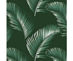 Plage 6 Piastrelle adesive Laminate Palmas, Verde, 15x15cm
