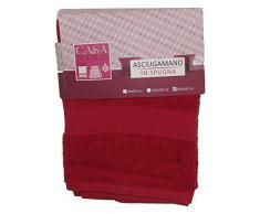 Viscio Trading Casa & Textiles Asciugamano, Cotone, Rosso, 140x80x1 cm