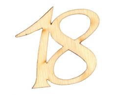 Petra S bastel News a gez1918Â strame decorazione, 40Â x compleanno numero, 19Â mm
