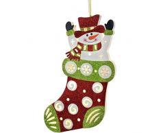 WeRChristmas–Pupazzo di neve in calza di Natale decorazione, Multicolore, 44cm