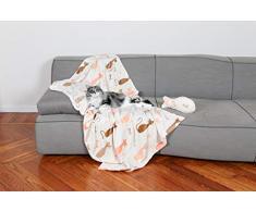 Kanguru 1151 Set Coperta in Pile per Gatti, Poliestere, Multicolore, taglia unica, 2 unità