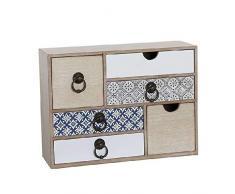 Dcasa - Cassettiera con cassetti portaoggetti per Decorazioni Natalizie, Articoli per la casa, Unisex, per Adulti, Colore: Unico