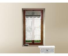 Tendina a vetro ricamata in cotone 45x90 cm PARFAIT Grigio diSoleil dOcre