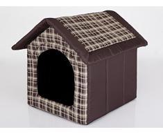 Hobbydog R1 BUDBWK11 Cuccia per Cani, Misura 1, 38 x 32 cm, Resistente Codura, Lavabile a 30 °C, Resistenza ai Graffi, Prodotto Europeo, XS, Marrone, 600 g