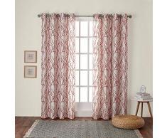 Exclusive Home coppia di tende con occhielli, per finestra tenda a pannello, poliestere, Arancione (Mecca Orange), 244 x 137 cm