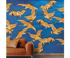 5 ROTOLI Carta da parati Blue Herons orientale parete completa 285x300cm 8,55 MQ COLLA INCLUSA