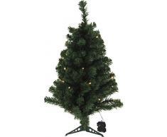 trends4u 1102037Â Albero di Natale con LED, plastica, bianco, 30Â x 30Â x 90Â cm